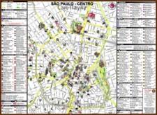 Туристическая карта Сан-Паулу с достопримечательностями