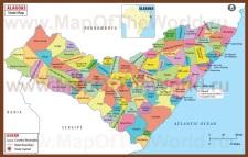 Административная карта Алагоаса