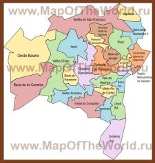 Административная карта штата Баия