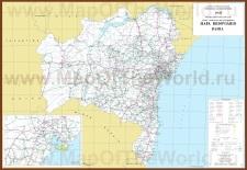 Подробная карта штата Баия