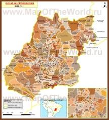 Административная карта Гояса