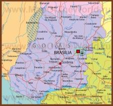 Подробная карта штата Гояс