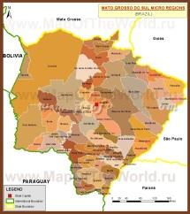 Административная карта Мату-Гросу-ду-Сул