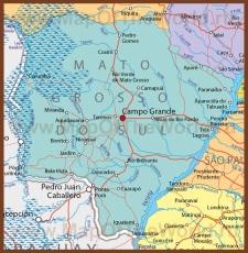 Подробная карта штата Мату-Гросу-ду-Сул