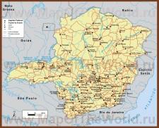 Карта штата Минас-Жерайс