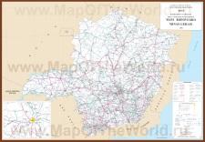 Подробная карта Минас-Жерайс