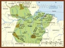 Карта штата Пара