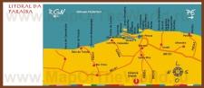 Карта побережья Параибы с курортами