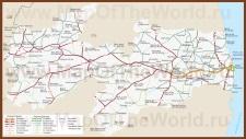 Подробная карта штата Параиба