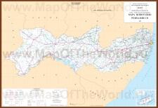Подробная карта Пернамбуку