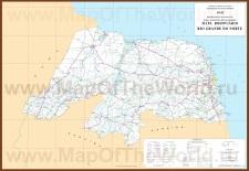 Подробная карта штата Риу-Гранди-ду-Норти