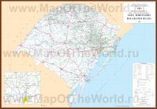 Подробная карта Риу-Гранди-ду-Сул