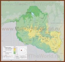 Карта штата Рондония
