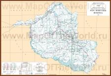 Подробная карта Рондонии
