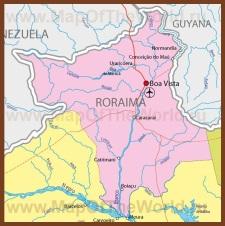 Карта штата Рорайма