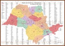 Административная карта штата Сан-Паулу