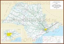Подробная карта штата Сан-Паулу