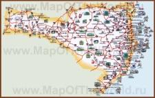 Туристическая карта Санта-Катарины