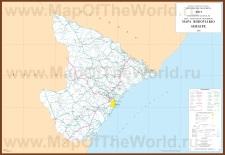 Подробная карта Сержипи