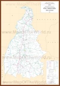 Подробная карта Токантинса