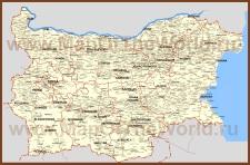 Карта Болгарии с городами