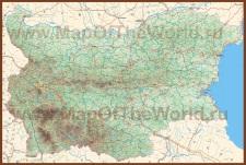 Подробная карта Болгарии