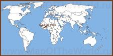 Буркина-Фасо на карте мира