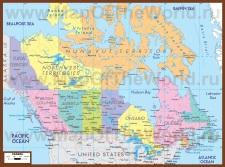 Политическая карта Канады