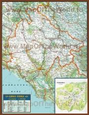 Автомобильная карта дорог Черногории