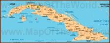 Карта Кубы на русском языке