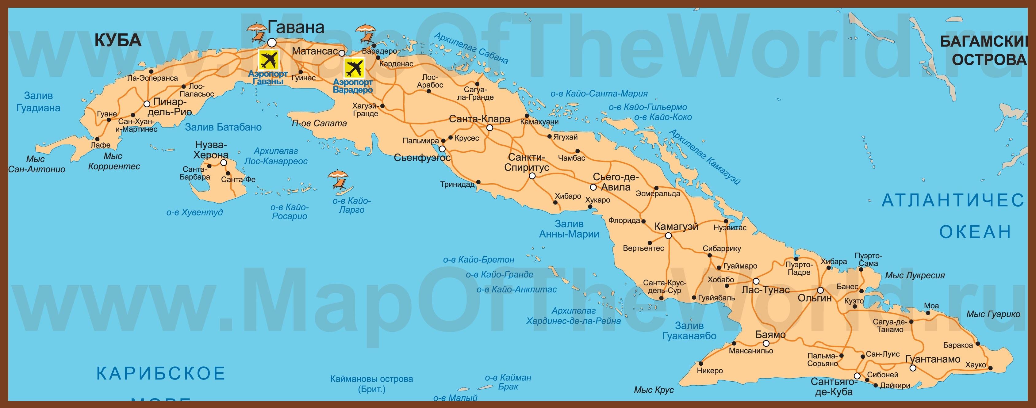 Karta Kuby Na Russkom Yazyke