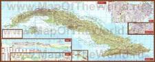 Подробная карта острова Куба