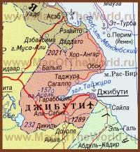 Карта Джибути на русском языке