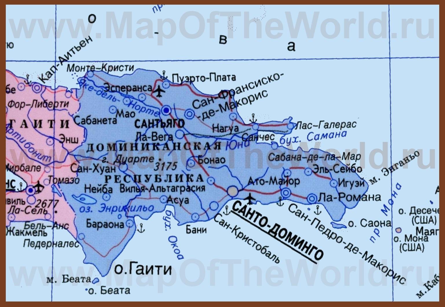 Где находится доминикана на карте мира