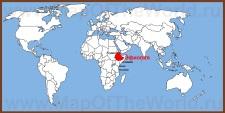 Эфиопия на карте мира