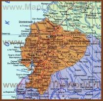 Карта Эквадора на русском языке
