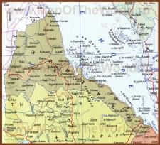 Карта Эритреи на русском языке