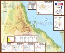 Подробная карта Эритреи