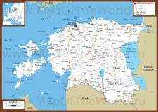 Автомобильная карта дорог Эстонии