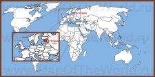 Эстония на карте мира и Европы
