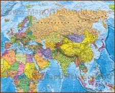 Подробная политическая карта Евразии