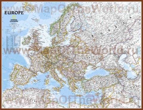 Подробная карта Европы с городами