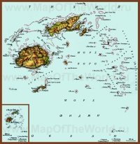 Карта Фиджи на русском языке
