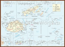 Подробная карта Фиджи