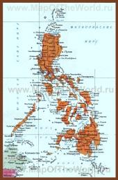 Карта Филиппин на русском языке