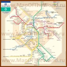 Карта-схема RER Парижа