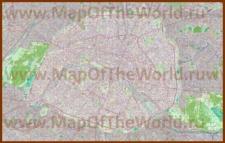 Подробная карта города Париж