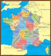 Карта Франции с провинциями