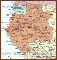 Карта Габона на русском языке