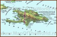 Карта острова Гаити на русском языке